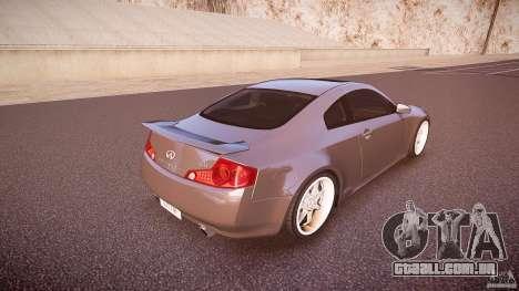 Infiniti G35 v1.0 para GTA 4 vista superior