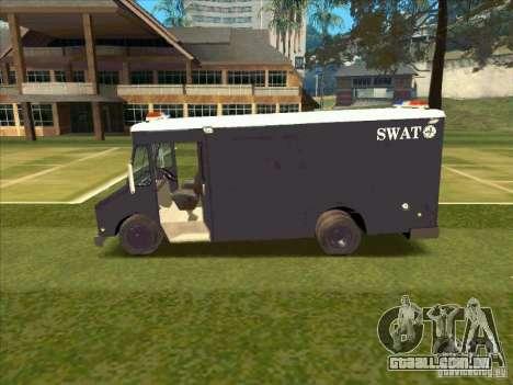 Swat Van from L.A. Police para GTA San Andreas traseira esquerda vista