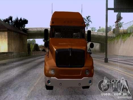 Kenworth T2000 para GTA San Andreas traseira esquerda vista