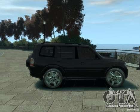 Mitsubishi Pajero para GTA 4 vista de volta