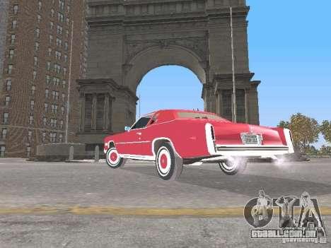 Cadillac Eldorado para GTA San Andreas traseira esquerda vista
