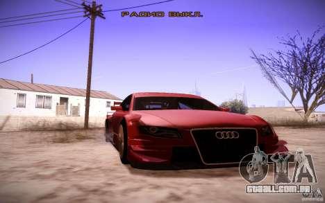 Audi A4 DTM para GTA San Andreas vista interior