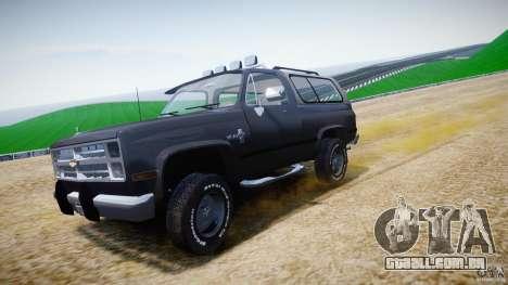 Chevrolet Blazer K5 Stock para GTA 4 vista superior
