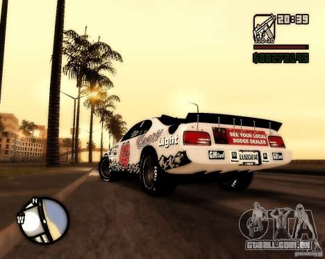 Dodge Nascar Beers Light 40 para GTA San Andreas esquerda vista