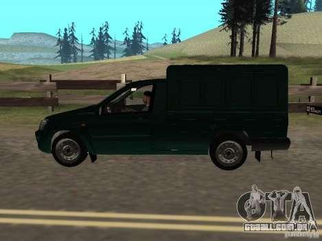 Calcanhar de 2190 VAZ para GTA San Andreas traseira esquerda vista