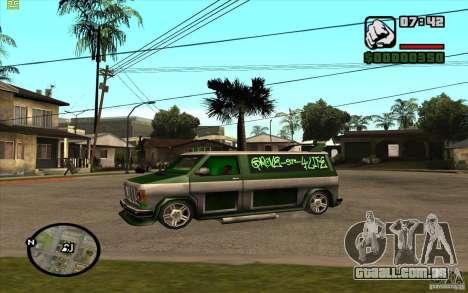 Grove Street Gang Burrito para GTA San Andreas traseira esquerda vista