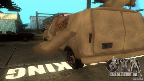 Dumb and Dumber Van para GTA San Andreas vista traseira