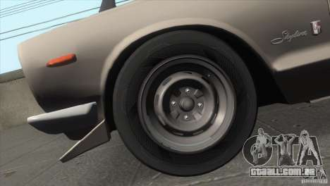Nissan Skyline 2000 GT-R Coupe para GTA San Andreas vista interior