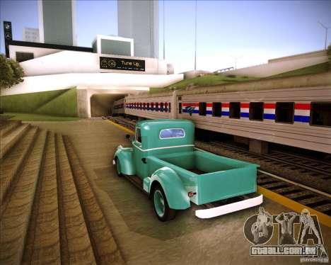 Shubert pickup para GTA San Andreas traseira esquerda vista