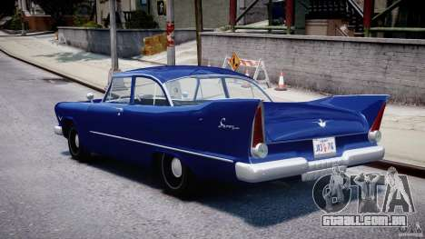 Plymouth Savoy Club Sedan 1957 para GTA 4 traseira esquerda vista