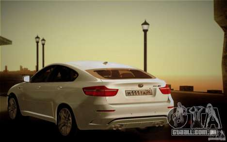 BMW X6M E71 para GTA San Andreas vista superior