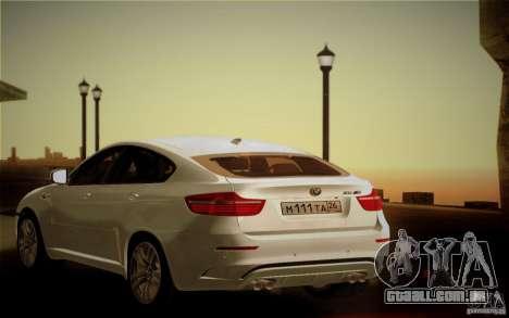 BMW X6M E71 para GTA San Andreas vista superior