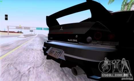Mitsubishi Lancer EVO VIII BlackDevil para GTA San Andreas vista direita