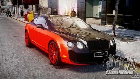 Bentley Continental SS 2010 Le Mansory [EPM] para GTA 4 vista de volta