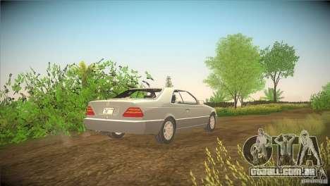 Mercedes Benz 600 SEC para GTA San Andreas traseira esquerda vista