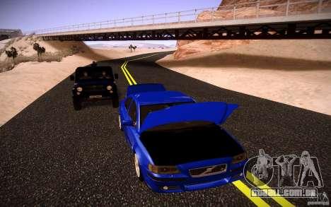 Volvo S 60R para GTA San Andreas vista interior