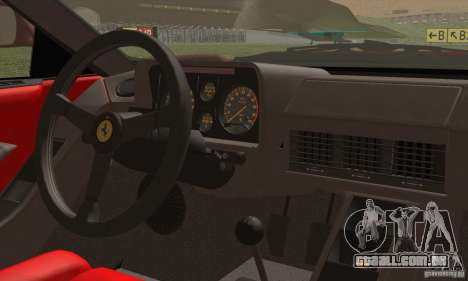 Ferrari Testarossa 1986 para GTA San Andreas vista interior