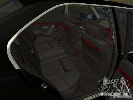 BMW 740I E38 (RUS) para GTA San Andreas vista traseira