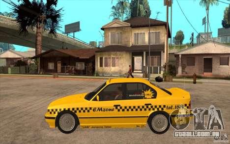 BMW 525tds E34 Taxi para GTA San Andreas esquerda vista