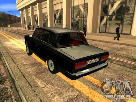 Estilo ZZ 2107 VAZ para GTA San Andreas vista direita