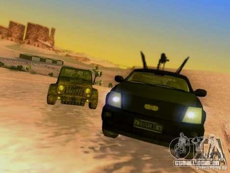 Suv Call Of Duty Modern Warfare 3 para as rodas de GTA San Andreas