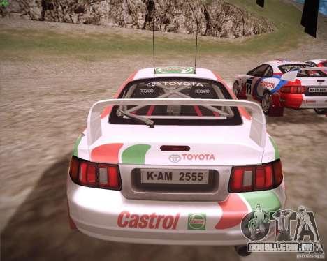 Toyota Celica ST-205 GT-Four Rally para GTA San Andreas esquerda vista