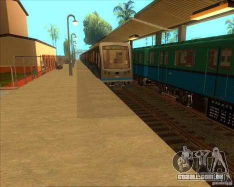 As plataformas elevadas em estações ferroviárias para GTA San Andreas segunda tela