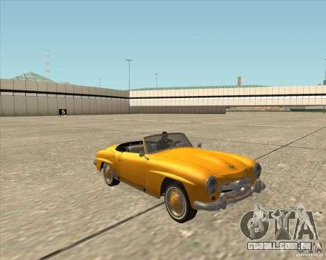 Mercedes Benz 190SL 1960 para GTA San Andreas vista traseira
