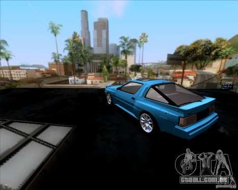 Mitsubishi Starion para GTA San Andreas traseira esquerda vista