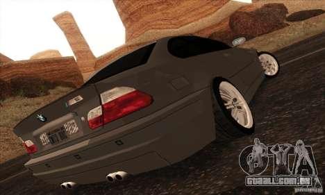 BMW M3 para GTA San Andreas esquerda vista