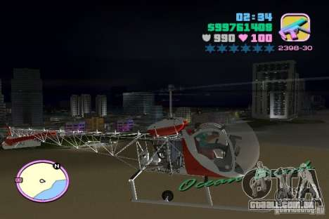 Bell 47 para GTA Vice City vista direita