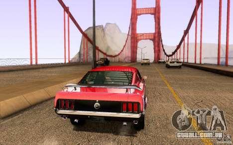 Ford Mustang Boss 302 para GTA San Andreas vista traseira