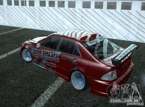 Toyota Altezza Hipermax para GTA San Andreas traseira esquerda vista