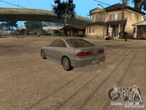Honda Integra 2000 para GTA San Andreas traseira esquerda vista