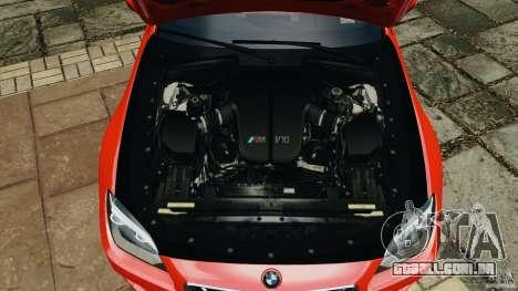 BMW M6 F13 2013 v1.0 para GTA 4 vista superior