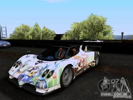 Pagani Zonda EX-R para GTA San Andreas vista interior
