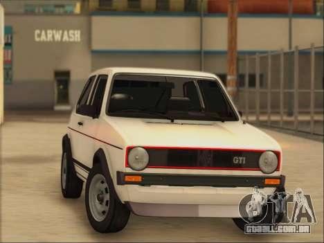 Volkwagen Golf MK1 Stock para GTA San Andreas