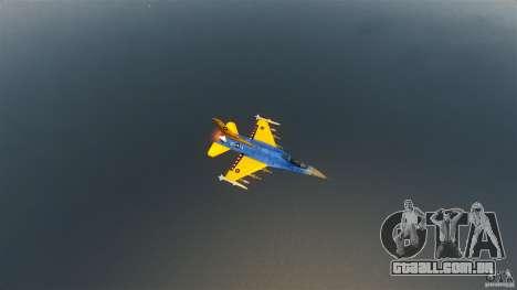 F-16C Fighting Falcon para GTA 4 vista interior