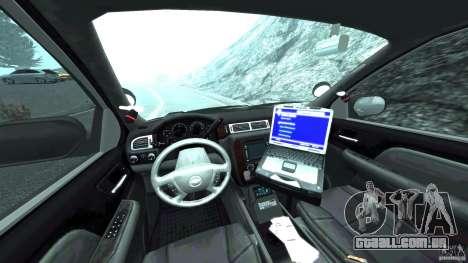 Chevrolet Tahoe Marked Unit [ELS] para GTA 4 vista de volta