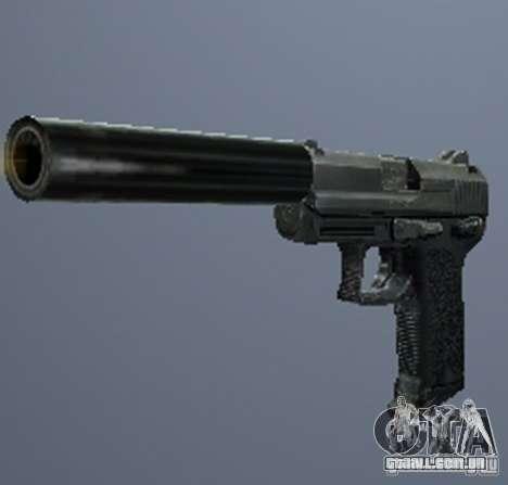 Um conjunto de armas do perseguidor V3 para GTA San Andreas por diante tela