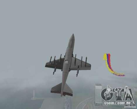 Multi colorido tiras para aeronaves para GTA San Andreas terceira tela