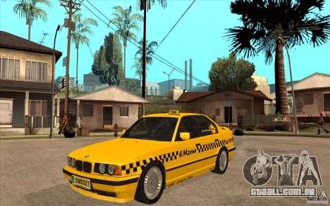 BMW 525tds E34 Taxi para GTA San Andreas