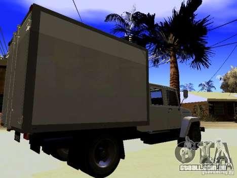 GAZ 3309 Huntsman para GTA San Andreas esquerda vista