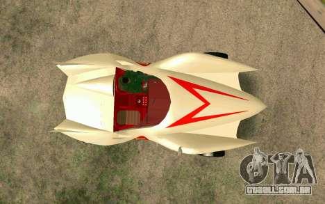 Mach 5 para GTA San Andreas vista traseira