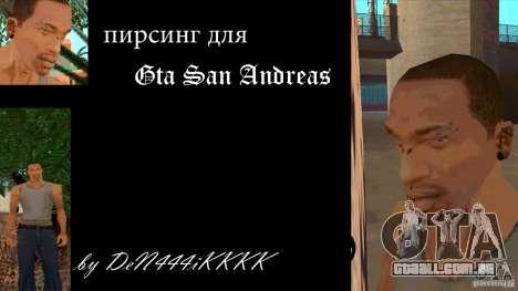 Piercing CJ mod + branco para GTA San Andreas