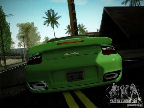 Porsche 911 (997) turbo para GTA San Andreas esquerda vista