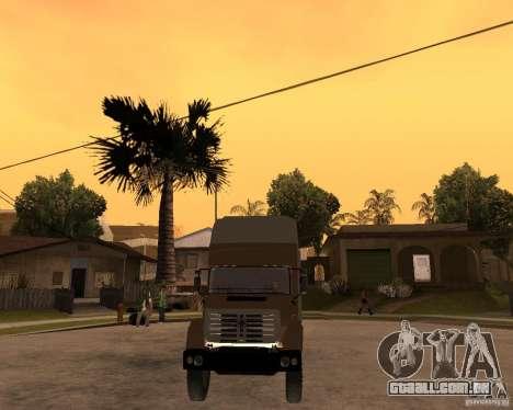 SuperZiL v. 2.0 para GTA San Andreas vista traseira