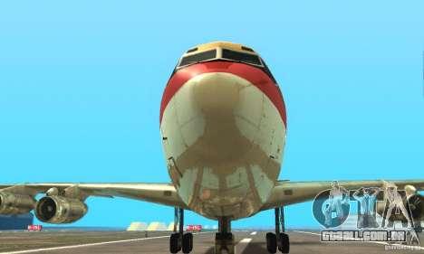 Boeing 707-300 para GTA San Andreas vista direita