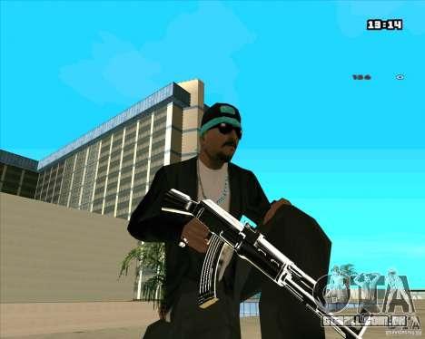 Chrome Weapon Pack para GTA San Andreas nono tela