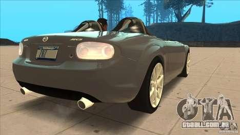 Mazda MX5 Miata Superlight 2009 V1.0 para GTA San Andreas vista direita